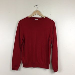 Talbots Classic Red Boat Neckline Pullover Sweater